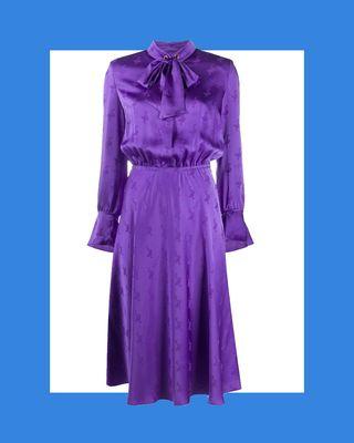 Jacquard Goose Midi Dress