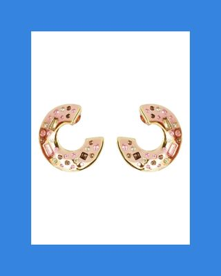 Fair Lady Small Curved Hoop Earrings in Rose Gold