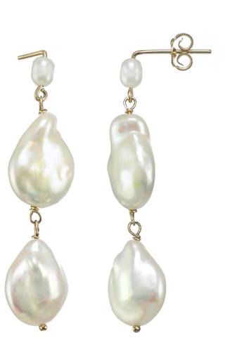 Pendants d'oreilles à perles Karo