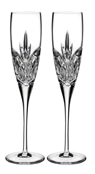 Love Forever Lot de 2 flûtes à champagne en cristal de plomb