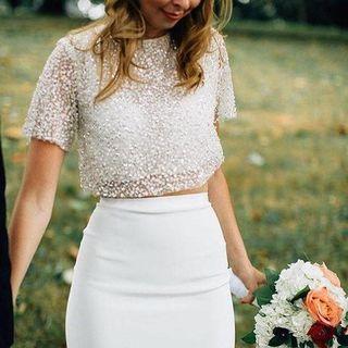 Haut de mariée sépare - Sarah crop top