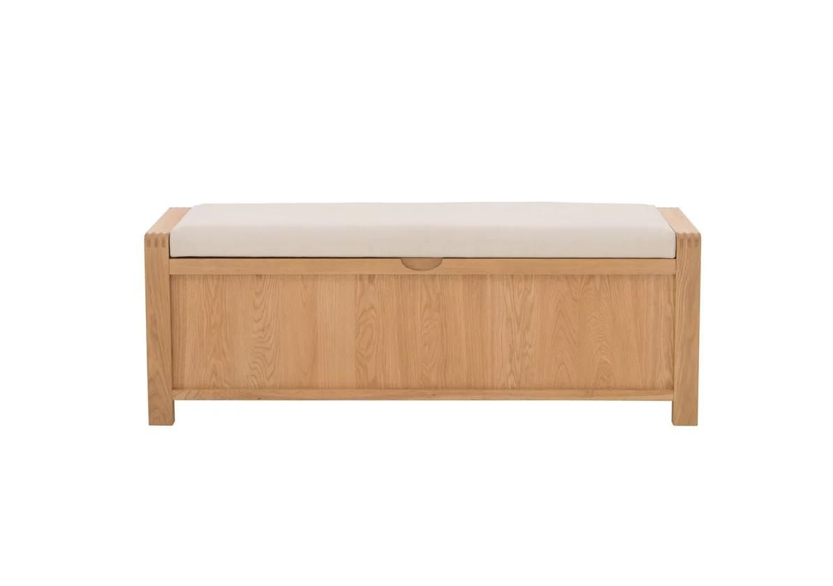 Storage Bench Seat, Wood Bench With Storage And Cushion