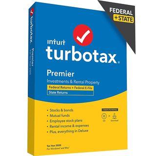 TurboTax Desktop Premier 2020 Fed + E-File & State