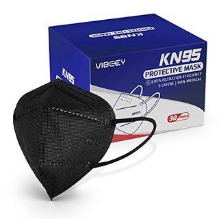 KN95 Face Masks (30 Count), Black