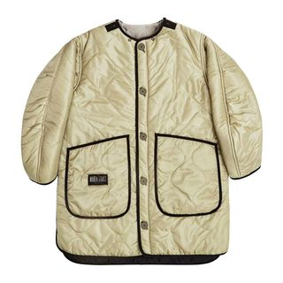 Reversible Shearling Quilt Jacket