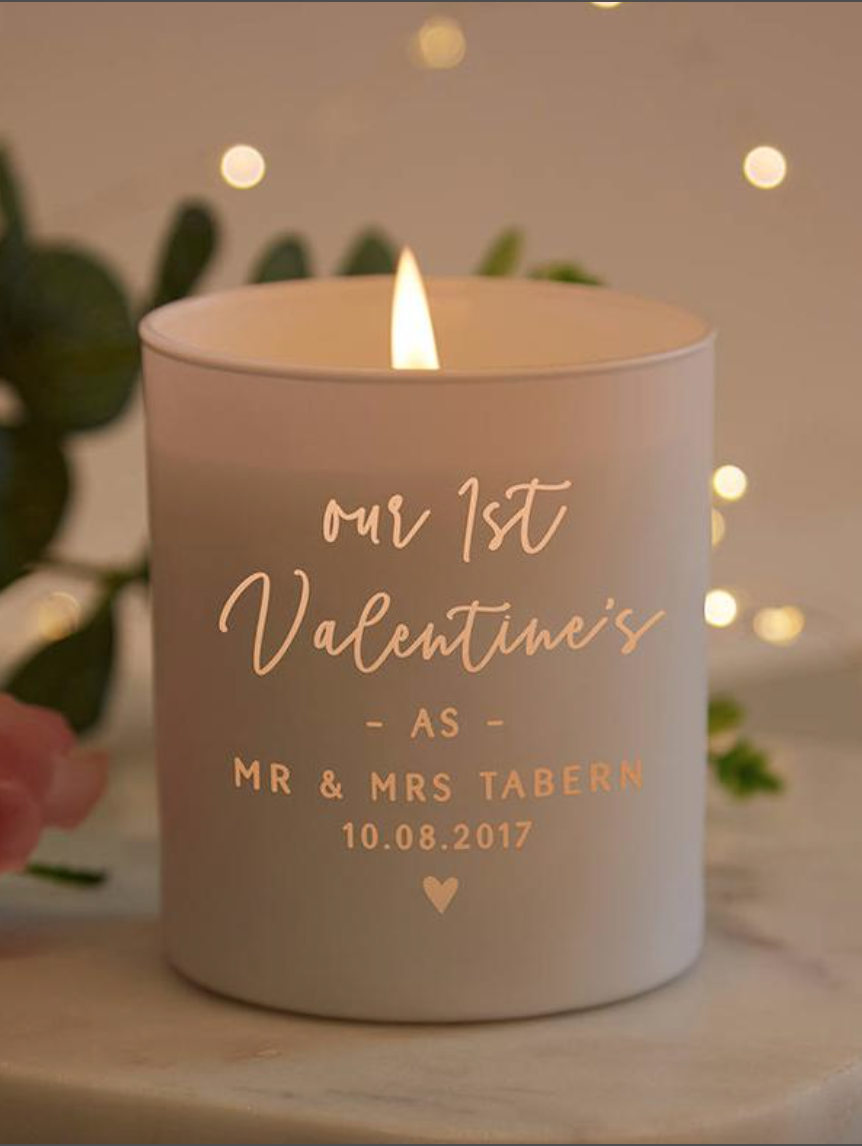 Love Candle Valentine/'s Day Candle Personalized with or Without Wish Name or Date