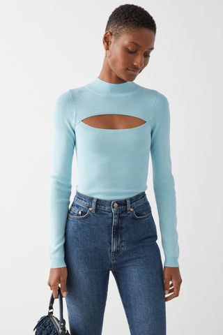 Fitted Cut Out Crop Top