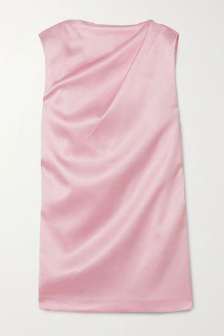 Cali draped satin mini dress