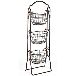 Harbor 3-Tier Floor Standing Storage Basket