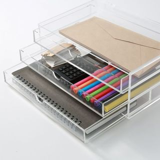 Acrylic Case 3 Drawer