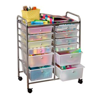 12-Drawer Rolling Storage Cart