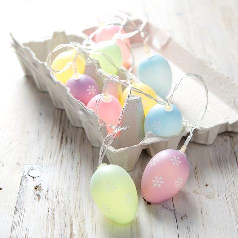 1612961460 LL21012 Easter egg battery fairy lights easter