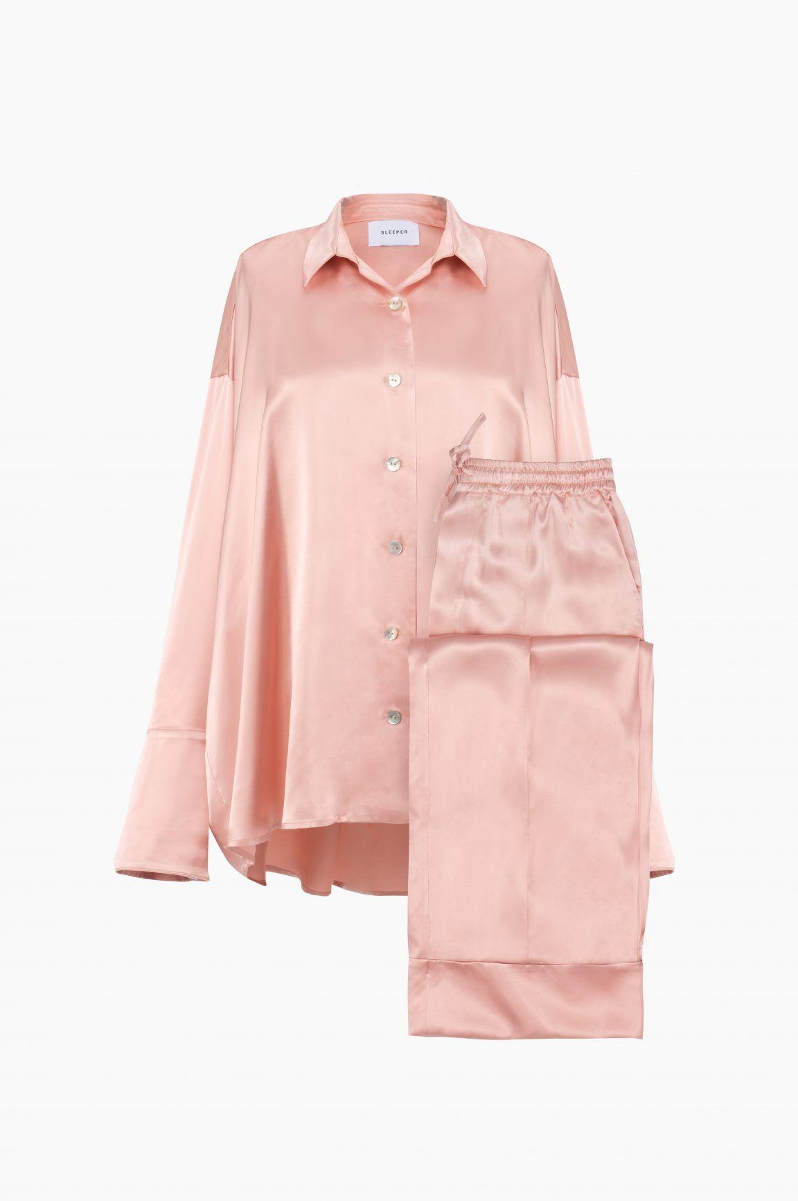 JULES SILK TOPLuxury silk satin top Ethical silk sleepwearModern Silk sleepwearSilk pajamasLounge topContemporary fashionSteel grey