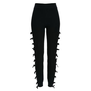 Tie Trim Knit Leggings