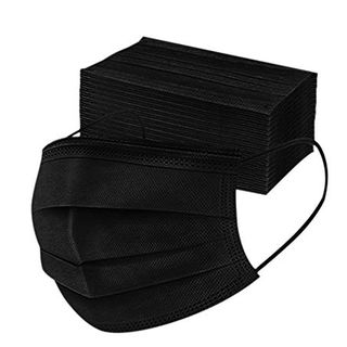 Black Disposable 3-ply Face Mask (50-pack)