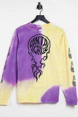 Santa Cruz Mako long sleeve t-shirt in yellow/purple