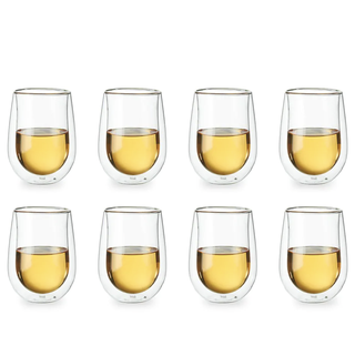 8-Piece Double-Wall Stemless Glass Set