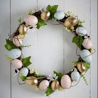 Couronne d'oeufs de Pâques