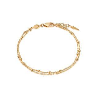 Gold Double Chain Bracelet