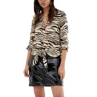 Tiger-Print Blouse