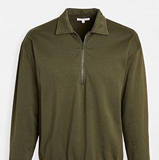 Save Khaki Quarter Zip Sweatshirt