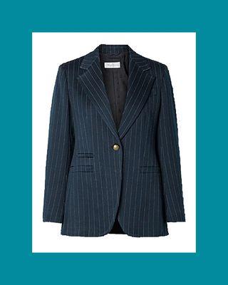 Valdai Pinstriped Cotton-Blend Blazer