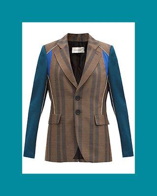 Isaacs Satin-Trim Wool-Blend Twill Jacket