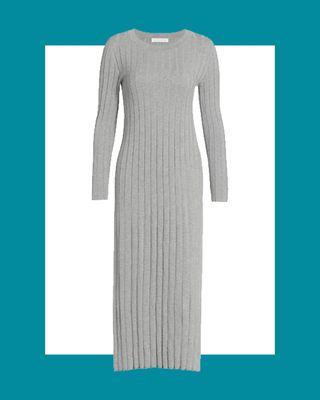 Organic Cotton Knit Midi Dress