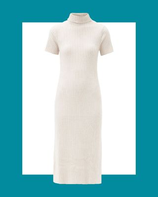 Lilou Roll-Neck Ribbed Wool-Blend Sweater Dress