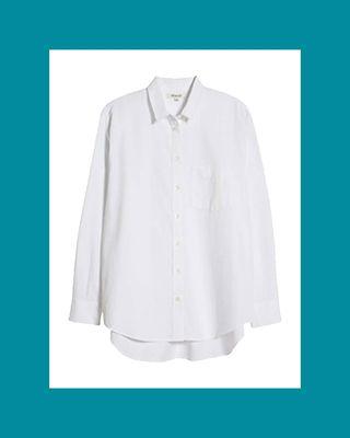 Side Button Oversize Ex-Boyfriend Shirt