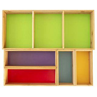 5 Piece Bamboo Organizer Set