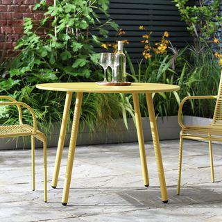 Argos Home Ipanema Round 4 Seater Garden Table - Yellow
