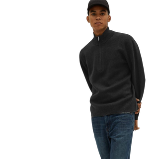 Everlane No-Sweat Half-Zip Sweater