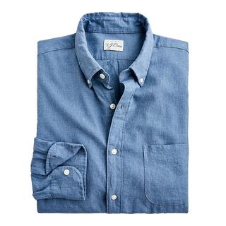 J.Crew Slim Cotton-linen Twill Shirt