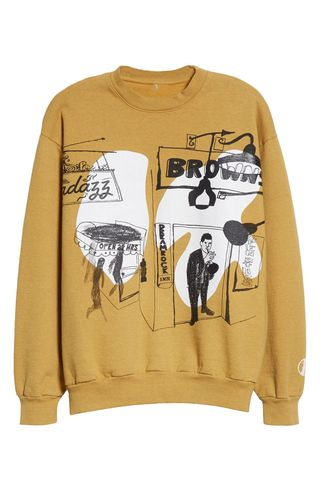 Shadazz Print Graphic Sweatshirt
