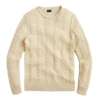 J.Crew Rolled Cable-knit Sweater