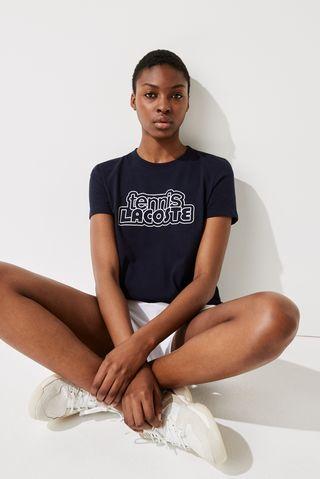 Graphic-Print Tennis T-shirt