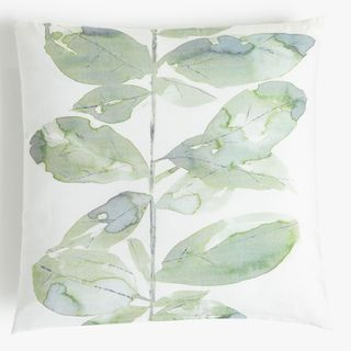 Croft Collection Leaf Square Showerproof Outdoor Cushion