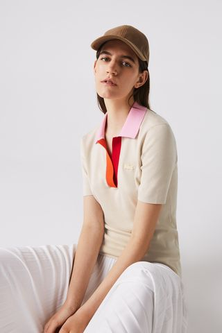 Two-Tone Cotton Sweater