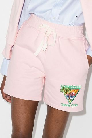 Tennis Club Embroidered Shorts