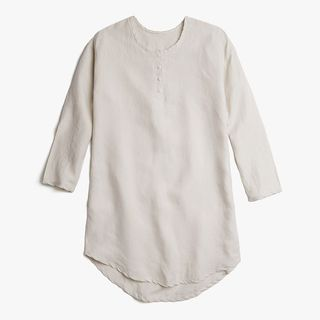 Women's Linen Sleep Shirt