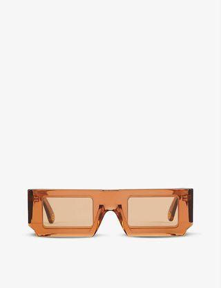 Jacquemus Soleil rectangular-frame acetate sunglasses