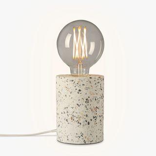 Terrazzo Bulbholder Table Lamp, White