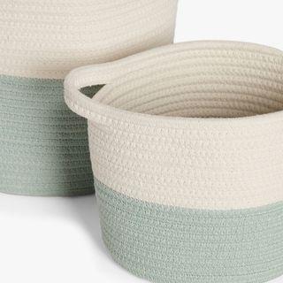 Cotton Rope Storage Baskets, Set of 2