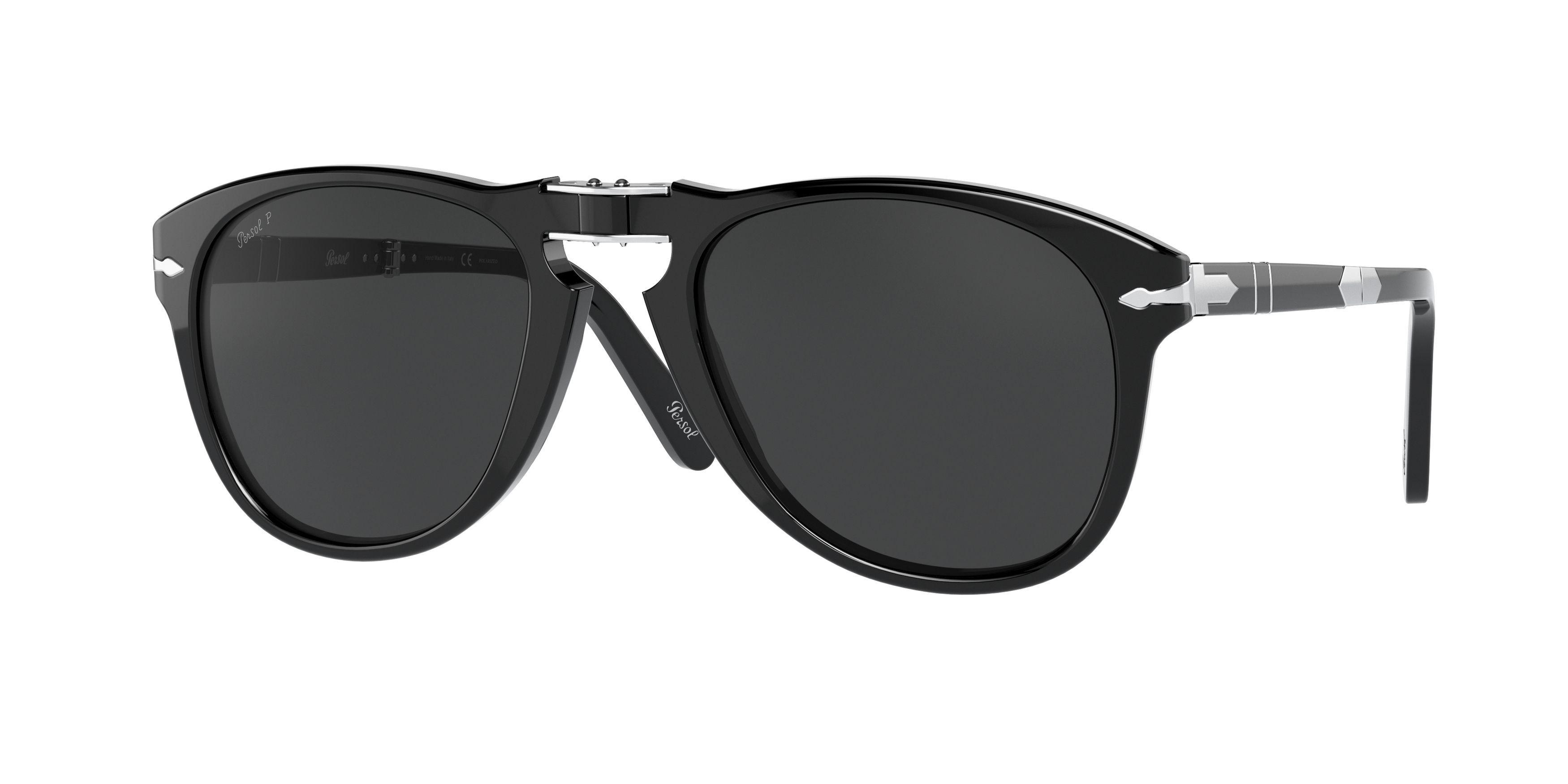 Persol PO 714-SM 95//48 Steve McQueen Black Folding Grey Polaried Sunglasses