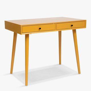 Spindle Desk, Mustard
