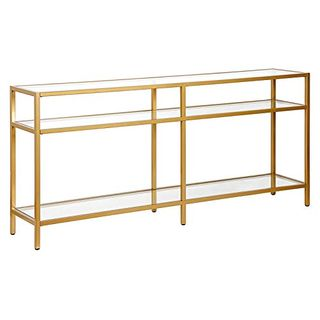 Brass Finish Console Table