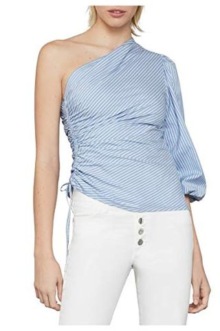 Ruched Poplin Top