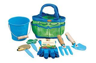 Little Pals 7-LP381 Kids Gardening Tool Kit - Blue