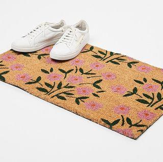 Floral Pink Doormat, Oliver Bonas, £19.50